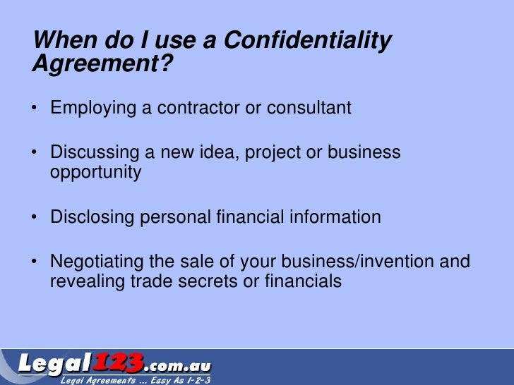 Confidentiality Agreement Faqs - Legal123.Com.Au