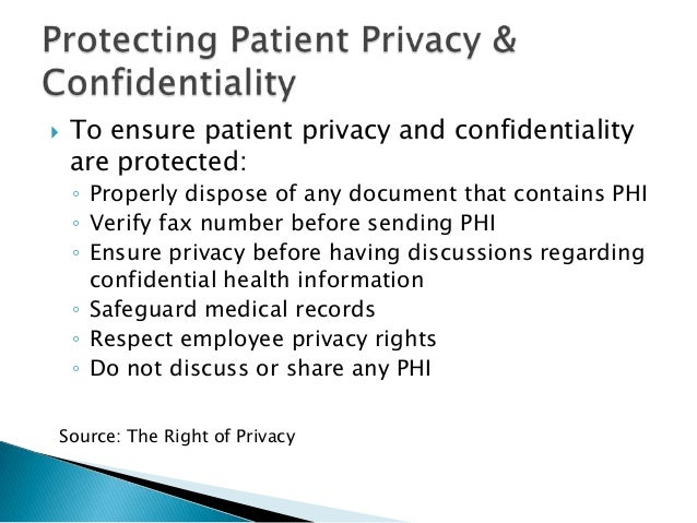 The importance of privacy and confidentiality of health records