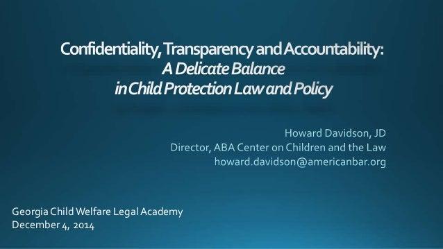 Georgia Child Welfare Legal Academy  December 4, 2014