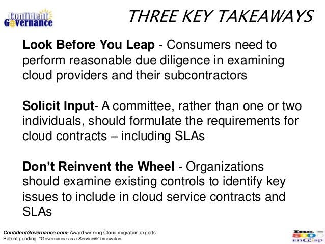 THREE KEY TAKEAWAYS       Look Before You Leap - Consumers need to       perform reasonable due diligence in examining    ...