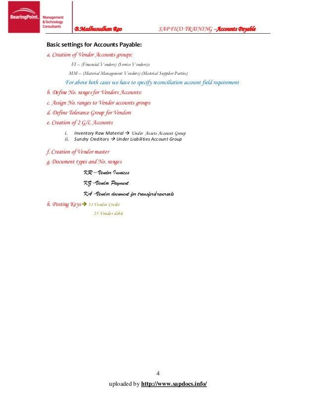 SAP FI AP: Configuration & End User Guide