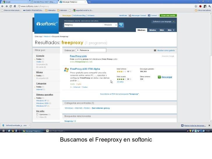 Buscamos el Freeproxy en softonic