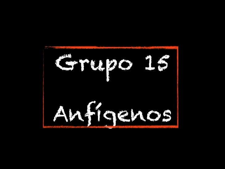 Grupo 15Anfígenos