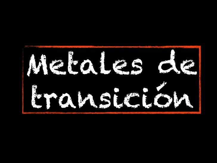 Metales detransición