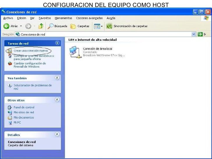 CONFIGURACION DEL EQUIPO COMO HOST