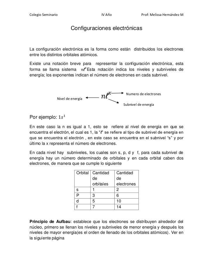 Colegio Seminario                        IV Año                 Prof: Melissa Hernández M                        Configura...