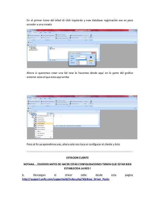 Configuracion servidor sql base