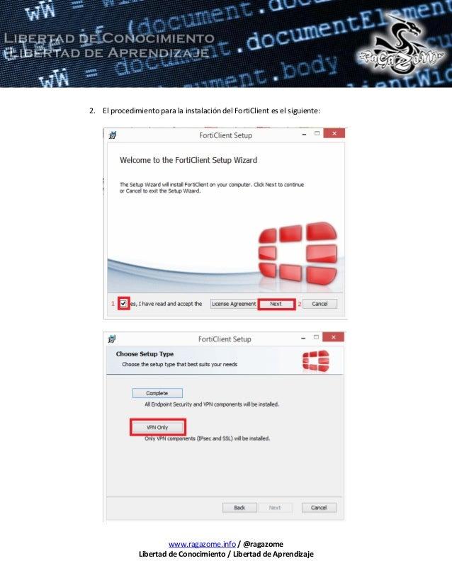 Configuración vpn forticlient - Cómo eliminar una aplicación en