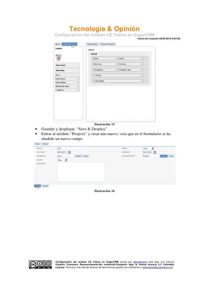 Tecnología & Opinión             Configuración del módulo CE Teams en SugarCRM                                            ...