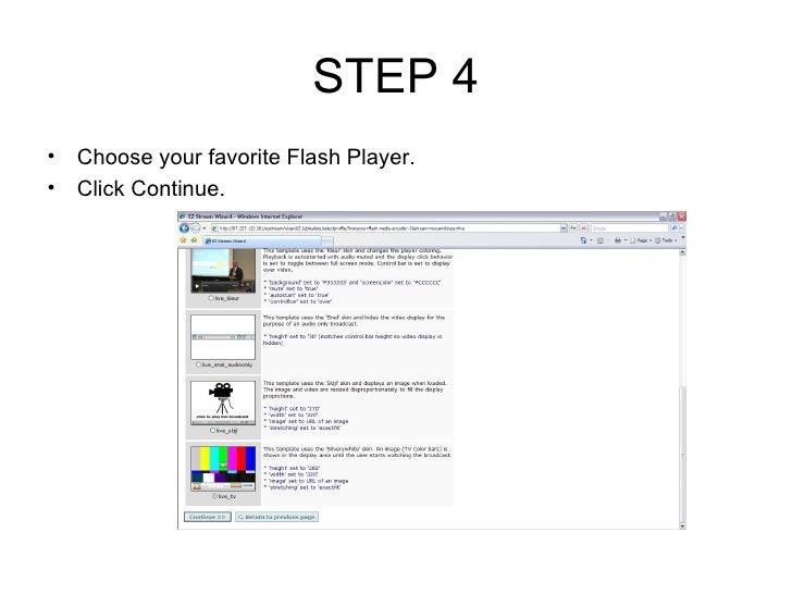 live streaming configuration using ezstream  flash media
