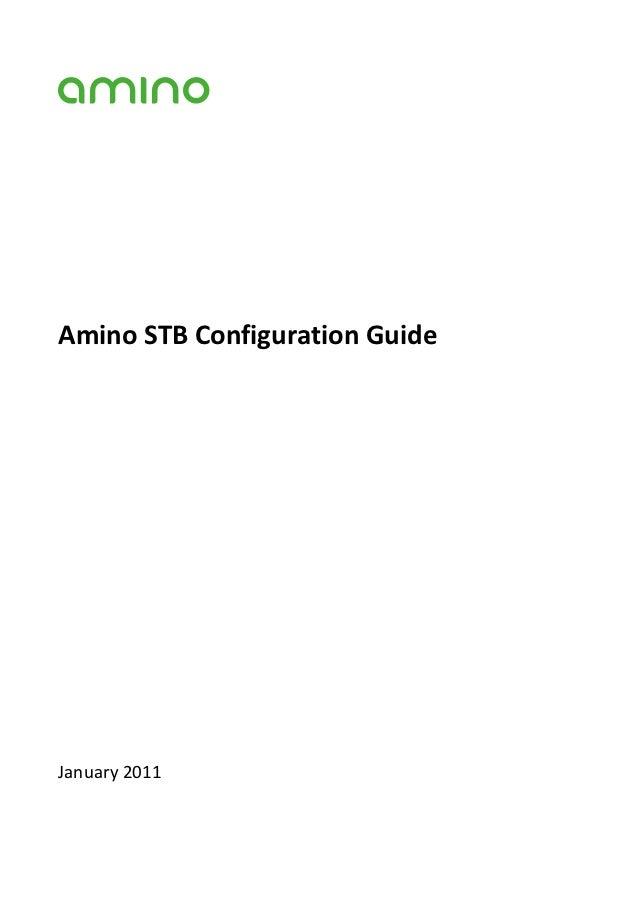 AminoSTBConfigurationGuideJanuary2011