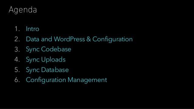 Configuration Management in WordPress Slide 2