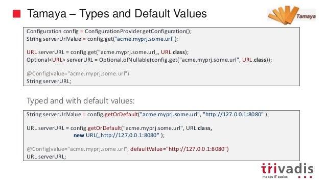 Configuration with Microprofile and Apache Tamaya