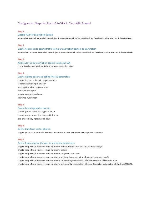 vpn site to site cisco pdf