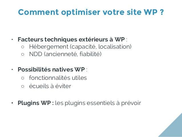 Configuration Wordpress et bons plugins pour améliorer son référencement Slide 2