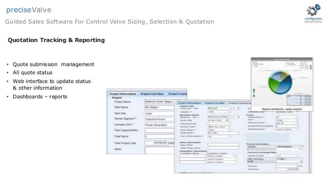 Control Valve Sizing, Selection & Quotation Software