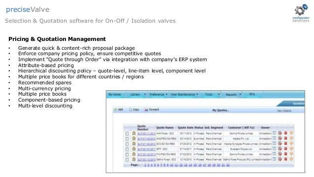 OnOff Valves  Selection  Quotation Software