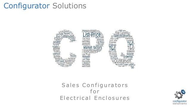 Sales Configurators for E lectrical E nclosures Configurator Solutions