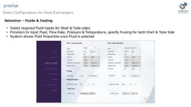 Heat exchanger sizing & selection software