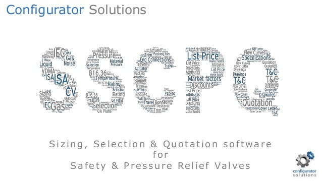 Safety Relief Valve sizing, selection & quotation software