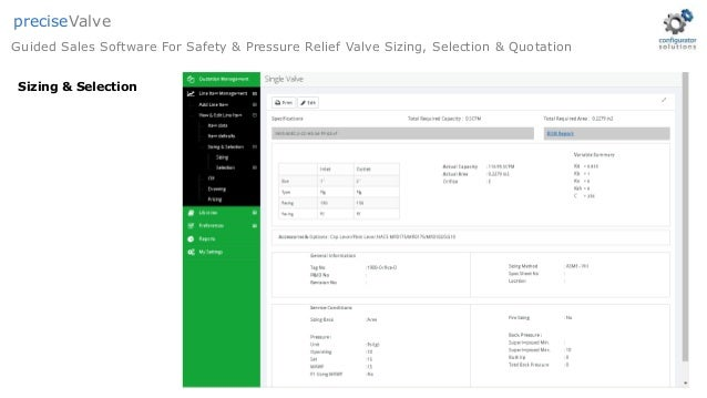 Safety Relief Valve Sizing Selection Amp Quotation Software