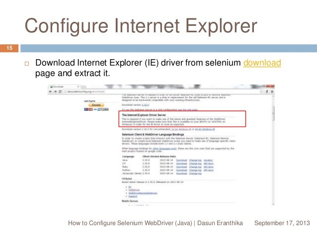 download ie browser driver for selenium