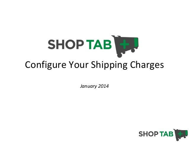 Configure Your Shipping Charges January 2014