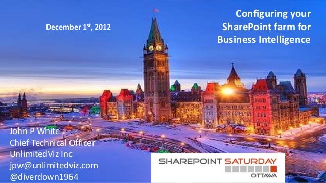 Configuring your         December 1st, 2012    SharePoint farm for                              Business IntelligenceJohn ...