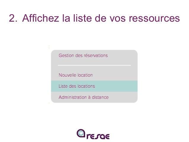 Configurez vos disponibilités, tarifs et saisonnalités sur RESAE Slide 3