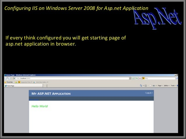 How to install with IIS7 on Vista and Windows