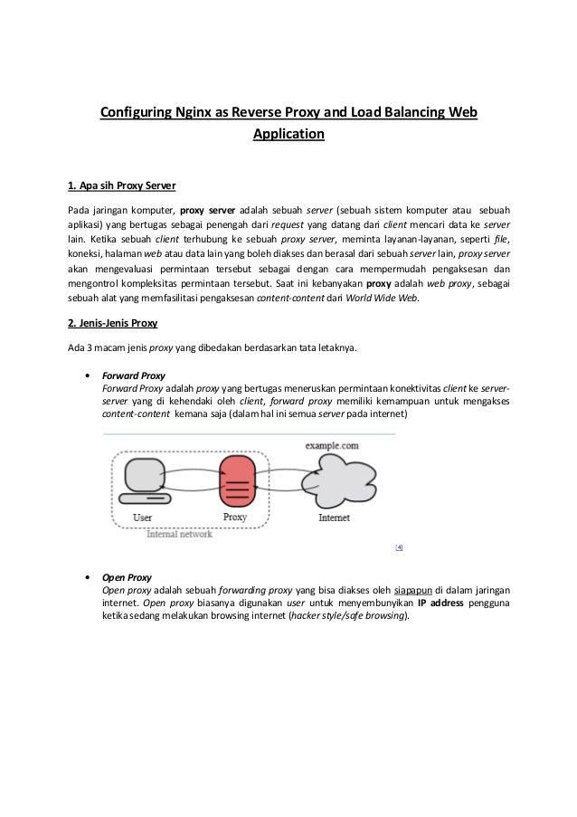 Configuring Nginx as Reverse Proxy and Load Balancing Web                               Application1. Apa sih Proxy Server...