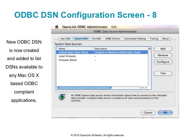 iODBC Driver Manager: ODBC and Mac OS X a/k/a macOS