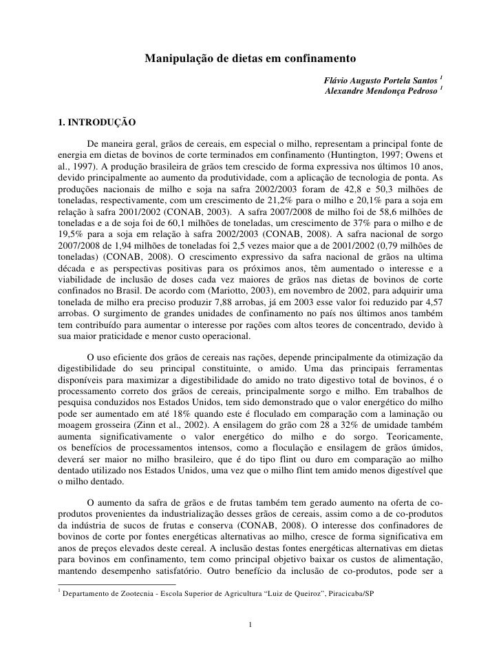 Manipulação de dietas em confinamento                                                                                Flávi...