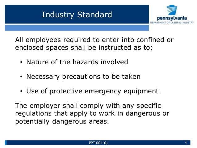 Confined Space Training by Pennsylvania Department of Labor & Industr…