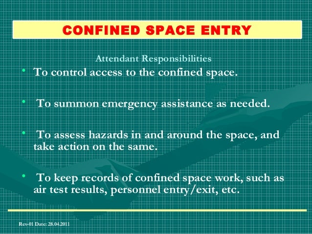 Confined space Detailed Training For Entrants