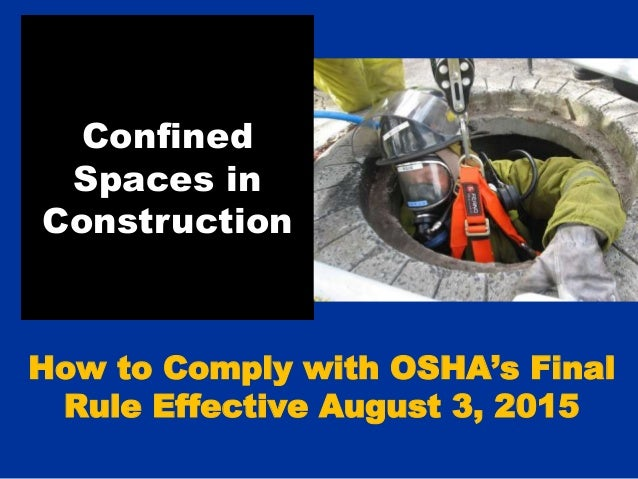 Confined Space in Construction Rules