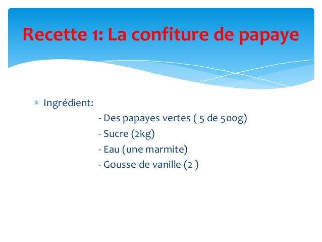 Confiture de papaye Slide 2