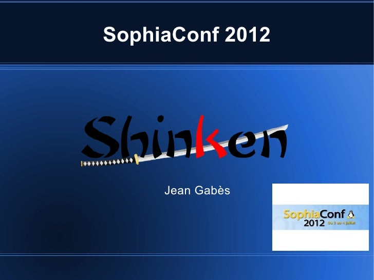 SophiaConf 2012     Jean Gabès