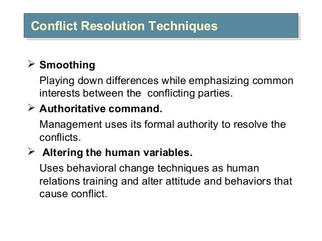 resolving conflict through negotiation Defining conflict resolution  but a process for resolving the dispute has yet to emerge  expense of the other through the negotiation or bargaining process.