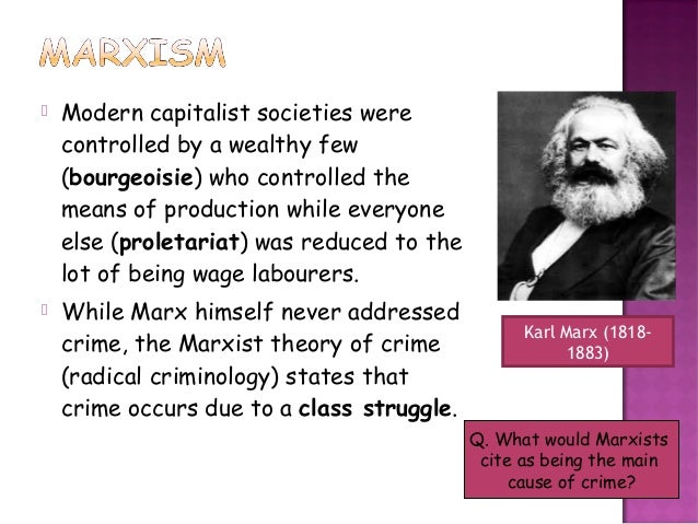 the marxist explanation of crime and Crime and capitalism: readings in marxist crimonology and a glossary of marxist terminology, crime and capitalism is an indispensable text for students and professionals in commonly devise explanations for a particular change of interest without considering how.