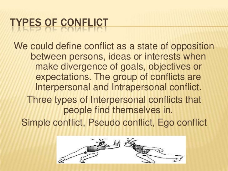the general definition of conflict can