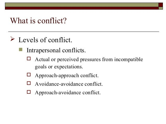 what are the levels of conflict