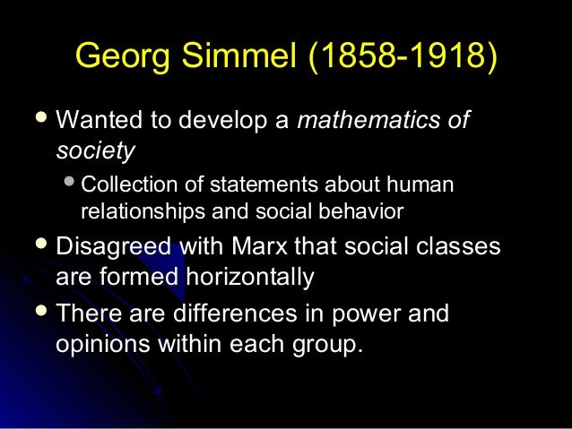 Money Exchange and Alienation Theory of Simmel