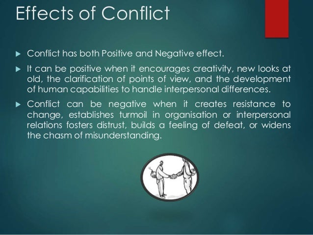 The effect of conflict management on