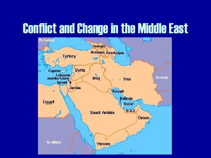 Conflict and Change in the Middle East