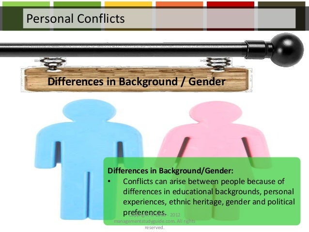 conflicts that arise from particular ways Conflict in one form or another is sure to arise in every situation that requires individuals to interact with one another the challenge is making sure that disputes or disagreements between co-workers do not escalate into something larger or have a negative effect on the way that individuals in an office complete their work.