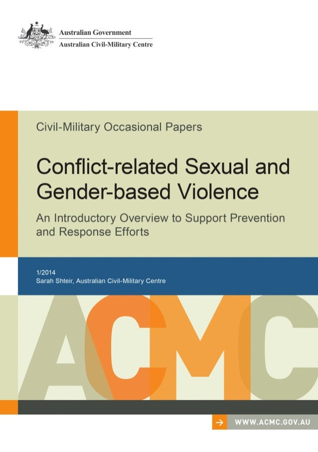 Abstract Sexual and gender-based violence is widespread in conflict-affected environments. The field of conflict-related s...