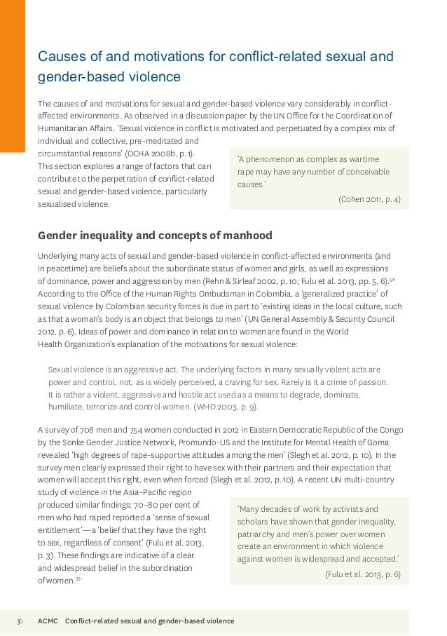 thesis gender based violence This sub-chapter provides information on the impact of gbv on women's health ( 171) as well as information on the life-cycle approach to gender-based.
