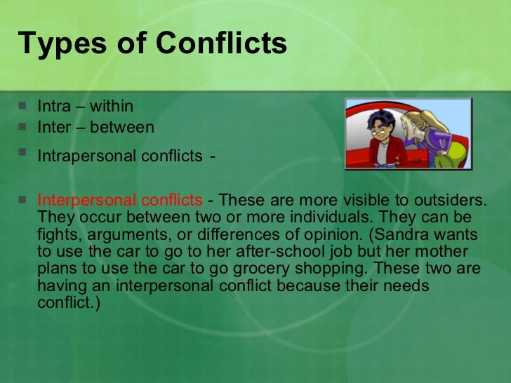 example of interpersonal conflict