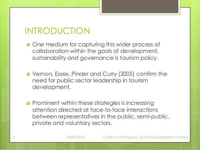 INTRODUCTION  One medium for capturing this wider process of collaboration within the goals of development, sustainabilit...
